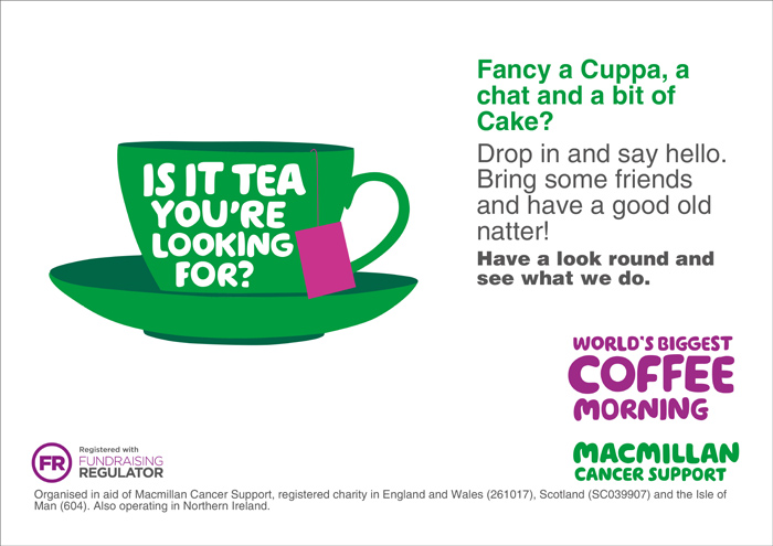 Macmillan Cancer Support Cup of Tea
