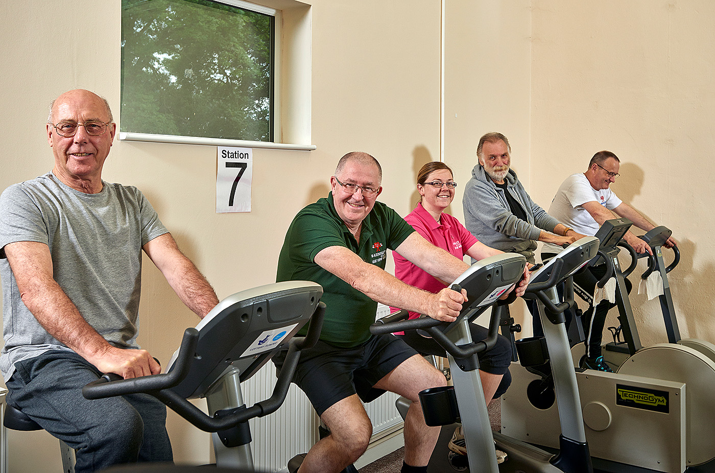 Exercise bikes at Barnsley LTE Heart Support