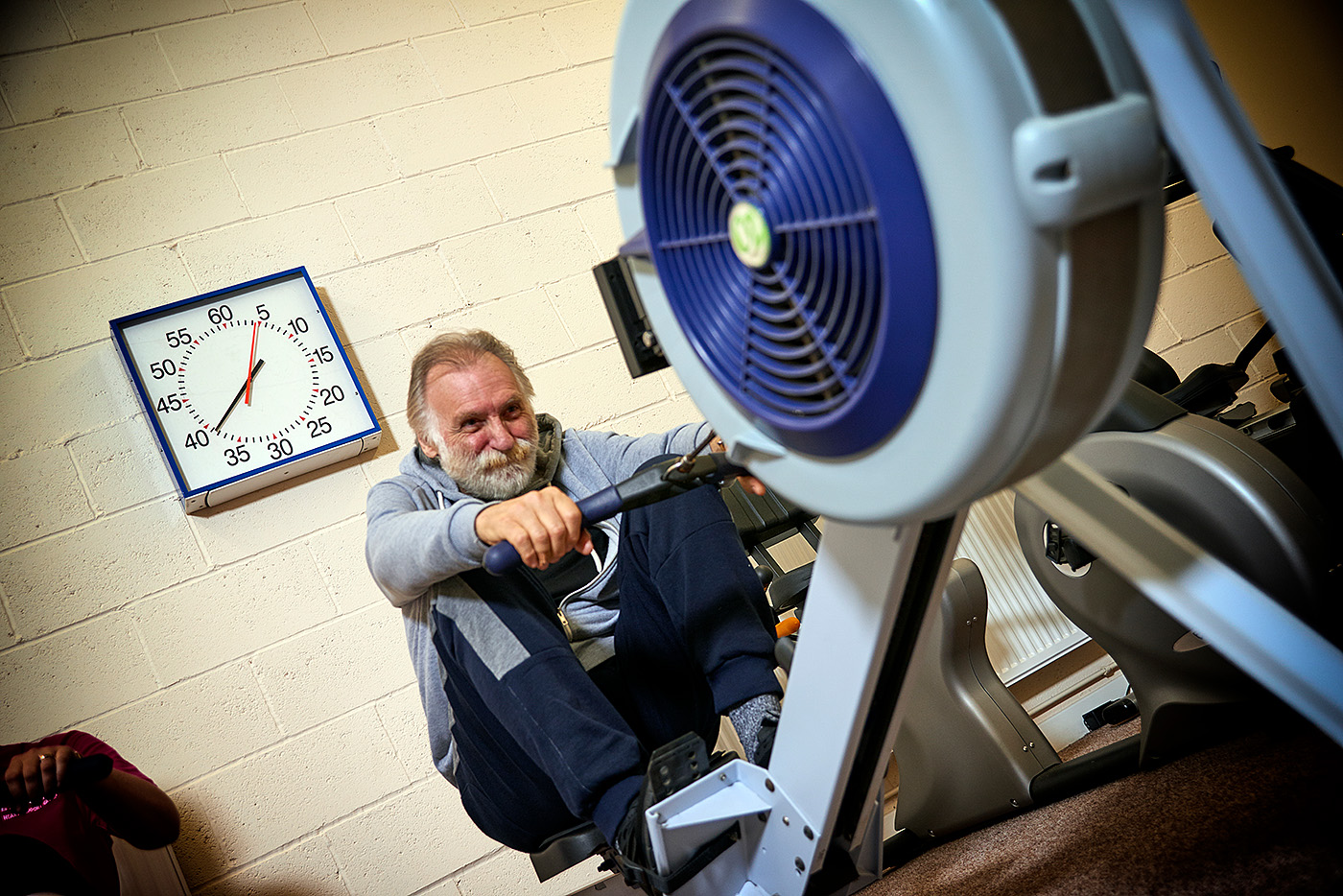 Rowing machines at Barnsley LTE Heart Support