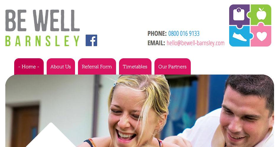 Be Well Barnsley website