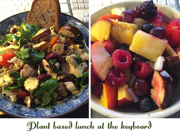Plant based lunch at the keyboarde