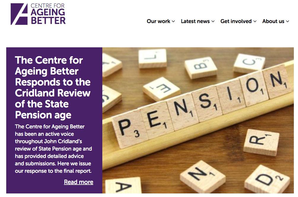Ageing Better website