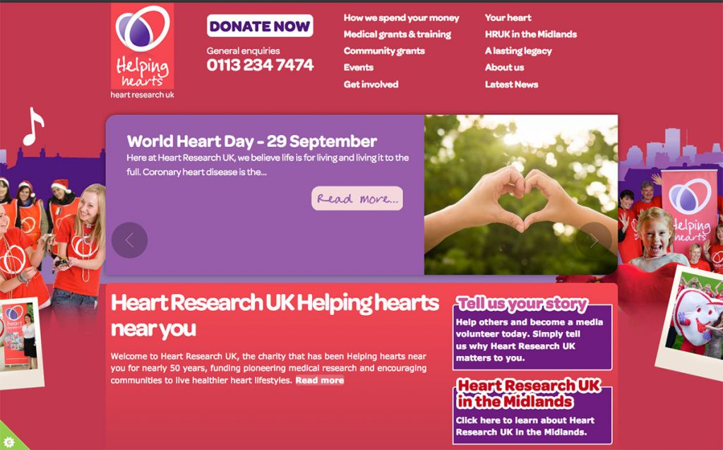 Heart Research UK web site