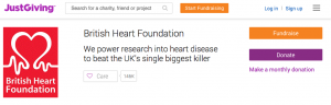 Donate to the British Heart Foundation