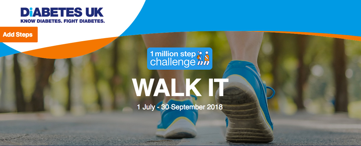 Diabetes UK 1 million step Challenge